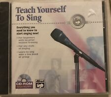 Teach Yourself To Sing Cd-Rom Alfred Pub. New