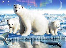 "Ceaco Animals ""Arctic Splendor"" Boxless Puzzle Polar Bear Cub Penguin Wolf *NEW*"