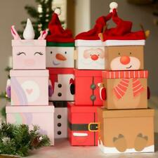 More details for stackable christmas gift boxes | nested 3-tier festive kids decoration large