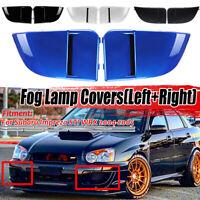 For 2004 2005 Subaru Impreza WRX STi Fog Light Lamp Bumper Bezel Cover Cap 2pcs