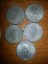 Lot of 5 Prime Ministers of Canada Medallions