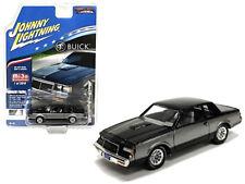 Johnny Lightning 1:64 1987 Buick Regal T-Type Diecast Black Silver JLCP7179