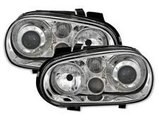 SCHEINWERFER ANGEL EYES VW GOLF IV 4 CHROM NEU DEPO