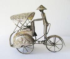 Asian RICKSHAW , silver 800 DELUX , figurine