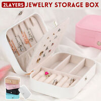 Jewelry Box Portable Organizer Travel Leather Jewellery Ornaments Case Storage