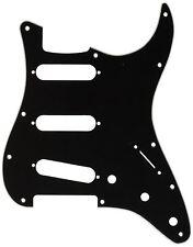Genuine Fender Stratocaster/Strat 3-Ply 11-Hole Guitar Pickguard B/W/B - BLACK