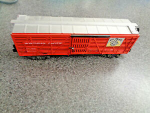 American Flyer S Gauge 1959 #24077 Northern Pacific Pig Palace Stock Car A Beaut