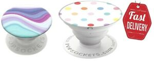 Expanding Stand and Grip with Swappable Top PopSockets PopGrip - Metamorphic NEW