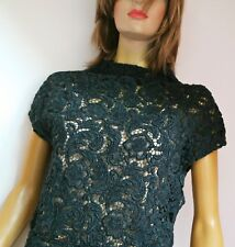 Prada Guipure Lace Embroidered Dress