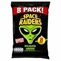3x Space Raiders Pickled Onion Flavoured Snacks 8X11.8G