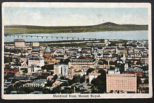 Canadian Postcard ~ Montreal from Mount Royal ~ 1924