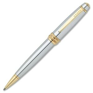 Cross Cross Bailey Executive-styled Chrome Ballpoint Pen - Chrome Ink - 1 Each