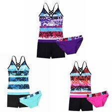 Girl Summer Tankini Swimsuit Swimwear Bathing Suit Set Top Bottoms Shorts Outfit