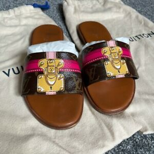 Louis Vuitton Slides Mules Sandals Size 37 Uk 4 100% Authentic