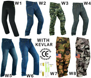 Motorcycle Denim Jeans Motorbike Trouser Made Bikers Armour Pant CE