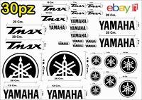 MAXI KIT 30 PZ DI ADESIVI YAMAHA OLD  TMAX  T- MAX 500 - 530 COLORE NERO