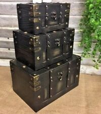 Antique Style Pirate Treasure Chest Vintage Storage Trunk Chic Wedding Card Box