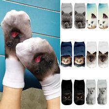 Unisex 3D Cat Ankle Socks Adult Animal Fashion Designer Funny Low Cut Soft Socks