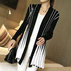 Women's Long Sleeve Loose Cardigan Knitted Sweater Knitwear Outwear Coat