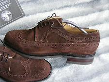 New Mens Handmade Brown Suede Samuel Windsor Brouges Shoes UK 10 EU 44.5 1/2