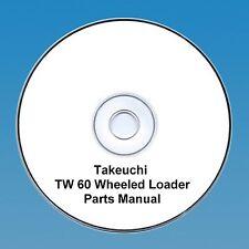 Takeuchi  TW60 / TW 60 Wheeled loader Parts Manual