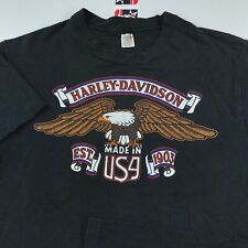 Vintage 70s Harley Davidson Of Glendale T-Shirt M / L Made In USA Eagle Graphic