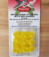 Perky Pet 9 Yellow Plastic Replacement Flowers for Hummingbird Feeders #202FB