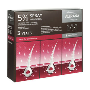 ALERANA EXTRA STRENGHT 5% MINOXIDIL - BIG SET 3х HAIR LOSS REGROWTH TREATMENT