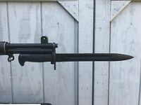 WWII American Fork and Hoe AFH  M1 Garand  Bayonet M7 Scabbard