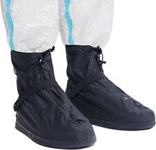 RAIN SHOE BOOT COVERS WATERPROOF REUSABLE SZ 3XL BLACK NEW