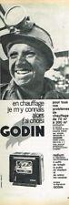 F- Publicité Advertising 1964 Le poele à charbon Godin ... mineur