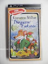 jeu GERONIMO STILTON LE ROYAUME DE LA FANTAISIE sur sony PSP en francais enfant