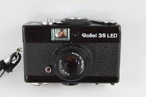 Rollei 35 LED FILM CAMERA All Black w/ Triotar 40mm F/3.5 Lens & Case WORKING
