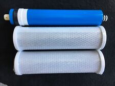 50 GPD RO Reverse Osmosis GE Membrane FX12M Smart Water W/ Pre & Post Filters