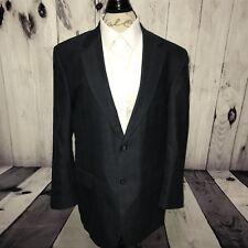 Jos A Bank Signature Collection Black Windowpane Suit Blazer 100% Wool Size 43 R