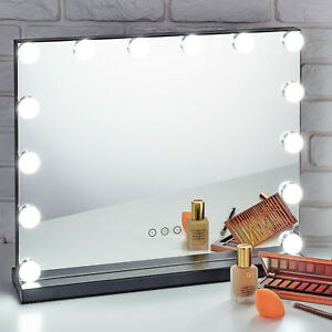 LED Glam Hollywood Dressing Table Vanity Mirror Lighted Cosmetic Dimmable Bulbs