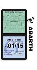 Porte vignette assurance ABARTH double étui adhésif voiture Stickers auto rétro