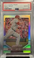 2014 Panini Prizm Mike Trout Prizm #3 PSA 10 GEM+ | EXTREMELY RARE LOW POP!