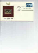 First day cover, Golden Replica stamp, & actual stamps, Social Security Act