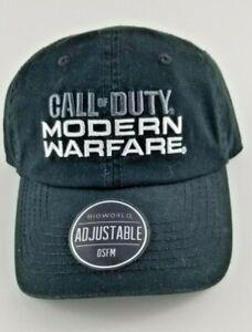 Call of Duty Modern Warfare Ballcap Black Hat Embroidered Adj OSFM NWT