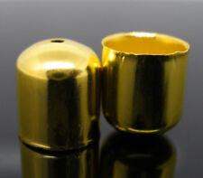 10-pc METALLO TAPPI TERMINALI, 10x11mm, Oro