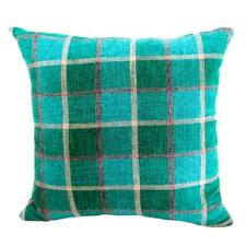Vintage Plaid Pattern Polyester Linen Throw Pillow Case Cushion Cover Decor