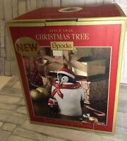 Spode Christmas Tree 2019 Penguin Candy Jar # 1698345 New