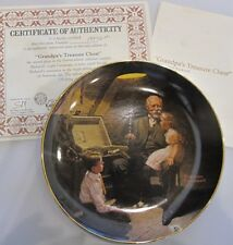 1987 Grandpa's Treasure Chest Collector Plate 2nd Issue Norman Rockwell
