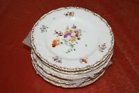 "Set of 6 Richard Klemm Dresden 6.75"" Hand Painted Floral Desert Plates"