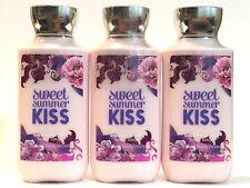 Lot 3 Bath & Body Works Sweet Summer Kiss Hand & Body Lotion Cream 8 Oz Shea