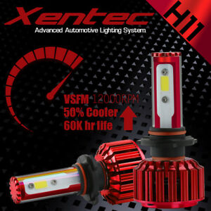 H11 160W 16000LM PHILIPS LED Headlight Kit Low Beam Bulbs 6000K White High Power