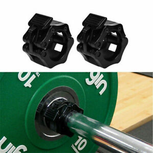 1Pair 25mm Spinlock Collars Barbell Dumbell Clips Clamp Weight Bar Locks Home