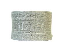 10m Jacquard Borte Mittelalter//Larp  33mm Breit Lurex Silber 1,05 €//m