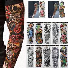 10Pcs Men Arm Tattoo Temporary Tattoos Sticker Fake Tatoo Body Art Waterproof-3D